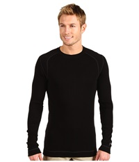 Smartwool Midweight Crew Neck Shirt Black Men's Clothing