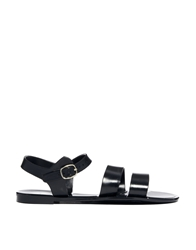 Juju Seven Black Flat Jelly Sandals
