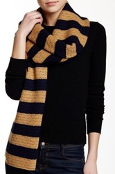 J.Crew Factory Striped Wool Blend Scarf Multi