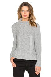 Minty Meets Munt Honeycomb Knit Sweater Gray