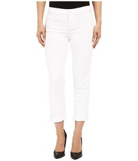 Level 99 Lily Mid Rise Crop Roll Up Skinny Straight In White Crush White Crush Women's Jeans