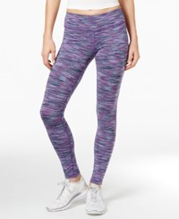 Ideology Space Dyed Training Leggings Only At Macy's Glacial Spacedye