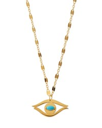 Jennifer Zeuner Jewelry Jennifer Zeuner Beyah Turquoise Evil Eye Pendant Necklace Gold