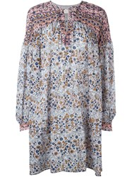 See By Chloe See By Chloe Boho Floral Print Dress Pink And Purple