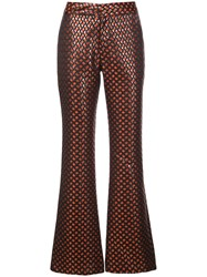 Cynthia Rowley Theo Jacquard Flared Trousers 60