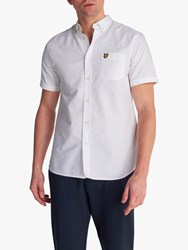 Lyle And Scott Short Sleeve Oxford Shirt White