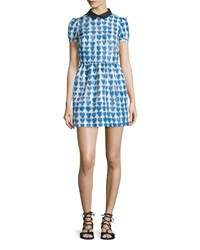 Red Valentino Peter Pan Collar Heart Print Dress Women's