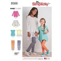 Simplicity Children's Easy To Sew Tunic And Leggings Sewing Pattern 8556