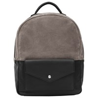 Reiss Bolton Suede Leather Backpack Black