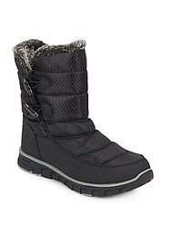 Khombu Ashley Faux Fur Trimmed Quilted Boots Black