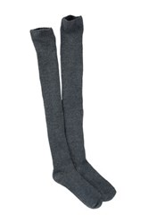 Free Press Ribbed Over The Knee Socks Gray
