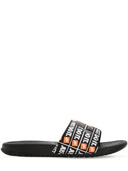 Nike Benassi Just Do It Print Slide Sandals Black Camo