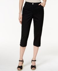 Karen Scott Petite Printed Cropped Capri Pants Only At Macy's Deep Black