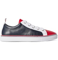 Thom Browne Colour Block Leather Sneakers Blue