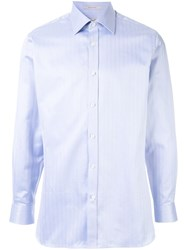 Gieves And Hawkes Striped Shirt Blue
