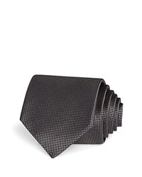 Bloomingdale's The Men's Store At Basic Textured Solid Classic Tie 100 Exclusive Black