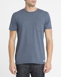 Element Blue Chest Pocket Round Neck T Shirt