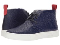 Del Toro High Top Laser Cut Chukka Sneaker Navy Geo Men's Shoes