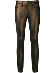 Cambio Skinny Fit Trousers Brown