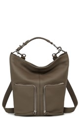 Allsaints Small Fetch Leather Backpack Brown Mink Grey