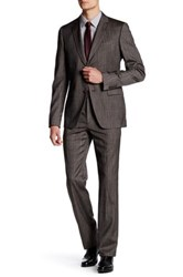 John Varvatos Austin Coffee Two Button Notch Lapel Suit Brown