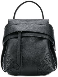 Tod's Mini Wave Backpack Black