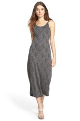 Whitney Eve 'Atlantic' Split Back Midi Dress Juniors Gray