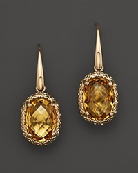 Bloomingdale's 14K White Gold And Citrine Drop Earrings Yellow Gold