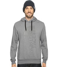 The North Face Trivert Pullover Hoodie Tnf Medium Grey Heather Black Reflective Men's Sweatshirt Gray