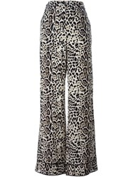 Roberto Cavalli Leopard Print Trousers Nude And Neutrals