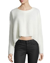 Nicholas Long Sleeve Scooped Hem Top Ivory