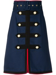 Manoush Army Skirt Blue