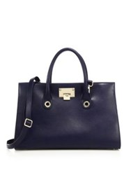 Jimmy Choo Riley Goat Leather Tote Navy