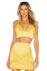 X By Nbd Marley Embellished Top Yellow