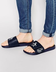 Original Penguin Slider Flip Flops Black