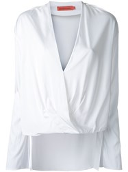 Manning Cartell Plunge Neck Wrap Top White