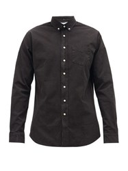 Schnayderman's Button Down Collar Cotton Shirt Black
