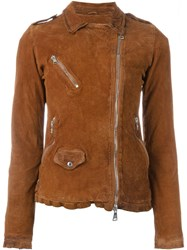 Giorgio Brato Fitted Zip Jacket Brown