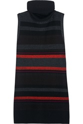 Proenza Schouler Wool And Cashmere Blend Turtleneck Tunic Black