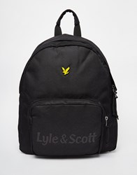 Lyle And Scott Logo Backpack Black