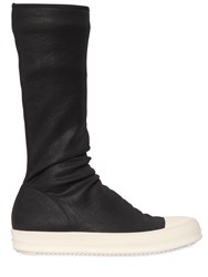 Rick Owens Drkshdw Stretch Waxed Denim Sneakers