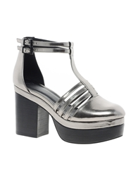 Asos Pembury Platforms Pewter