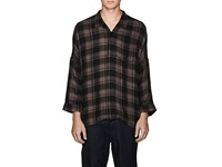 Chapter Checked Camp Shirt Charcoal