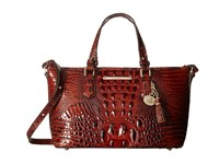 Brahmin Mini Asher Pecan Handbags Brown