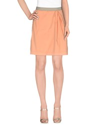 Monocrom Skirts Knee Length Skirts Women Apricot