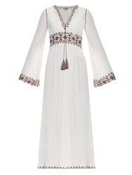 Talitha Embroidered Crepe Kaftan Dress