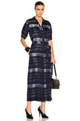 Stella Mccartney Satin Stripe Jumpsuit In Blue Stripes White Blue Stripes White