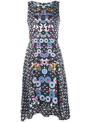 Peter Pilotto Geometric Handkerchief Hem Dress Black