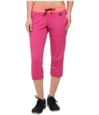 Hurley Dri Fit Fleece Crop Pant W Drawcord Heather Fuchsia Women's Casual Pants Pink