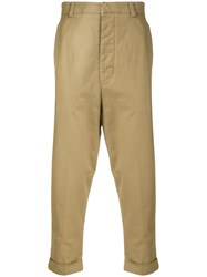 Ami Alexandre Mattiussi Oversized Carrot Fit Trousers Nude And Neutrals